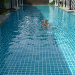 in hotel swimming pool
