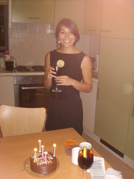 Celebrating Maggie's birthday