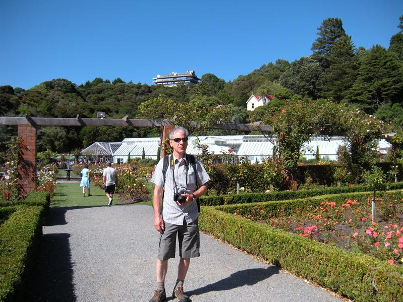 Pete in the Botanical Gardens in Wellington