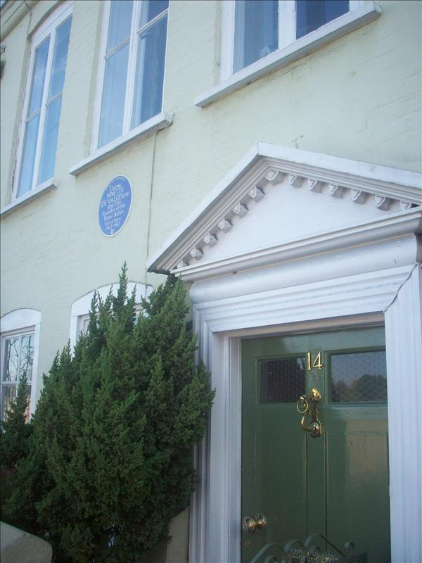 Dame Ninette de Valois founder of the royal ballet!well.. her house.