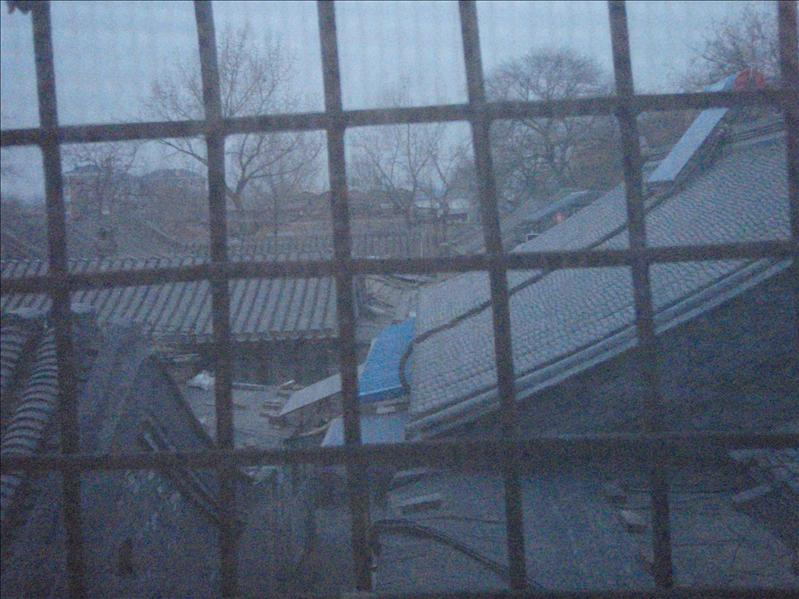 out hostel window, beijing