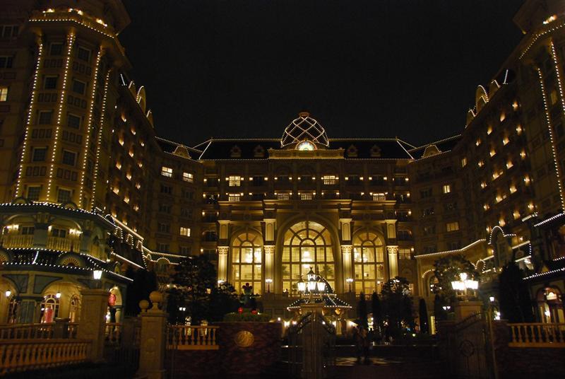 夜晚的迪士尼飯店