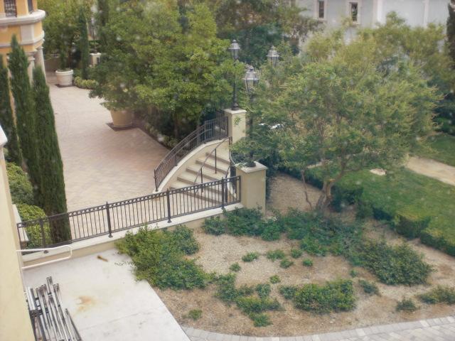 Pretty garden stairs @ Ritz