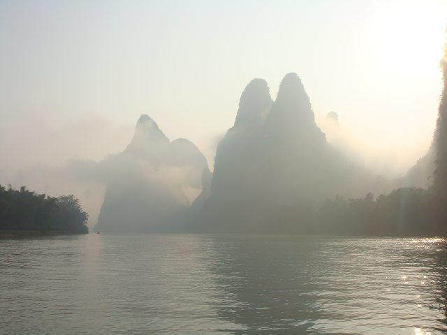Li River in fog