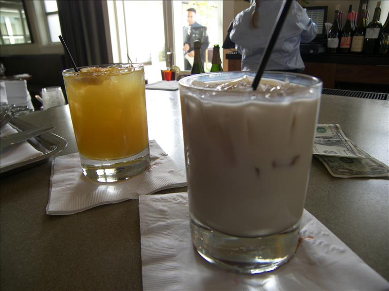 That's a sex on the beach and a white Russian.