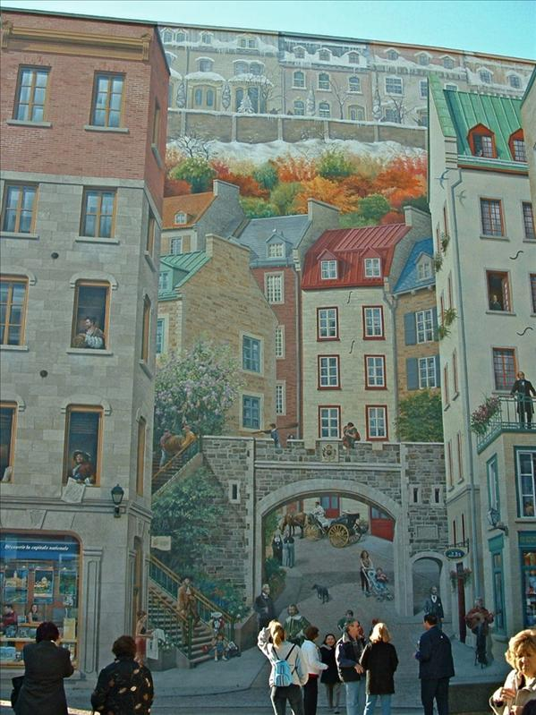 Wall Mural,Quebec city