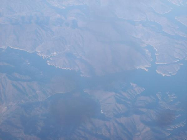 flying over korea