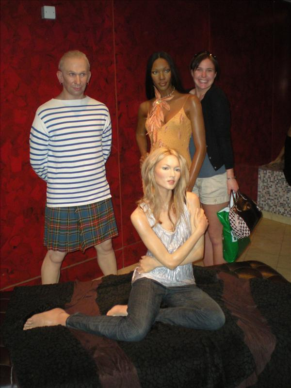 Kate Moss & Naomi Campbell, Madame Tussaude's Wax Museum - 20th May