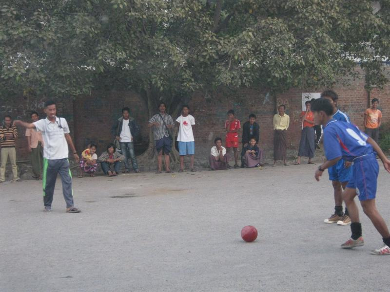 playing Football in Mandaly