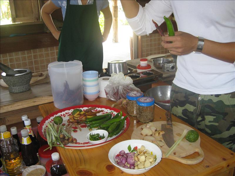 Learning how to make our own chili paste....