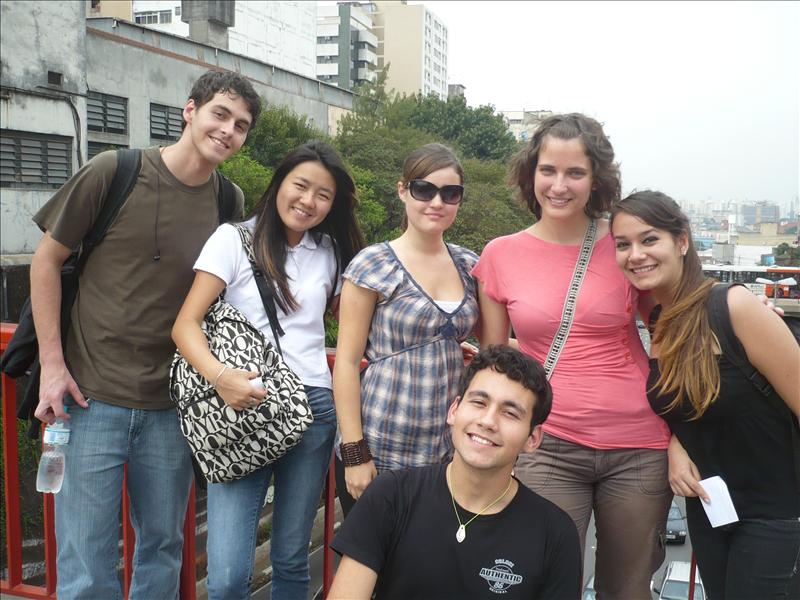with Tábata´s friends