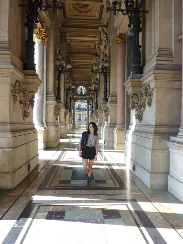 on the Balcony of the Opera Garnier