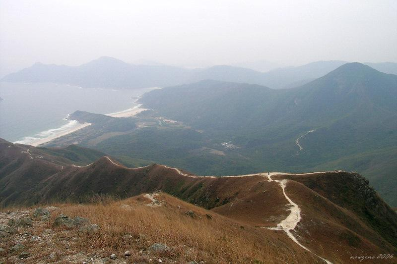 the summit presents a panorama of the four bays of Tai Long Wan