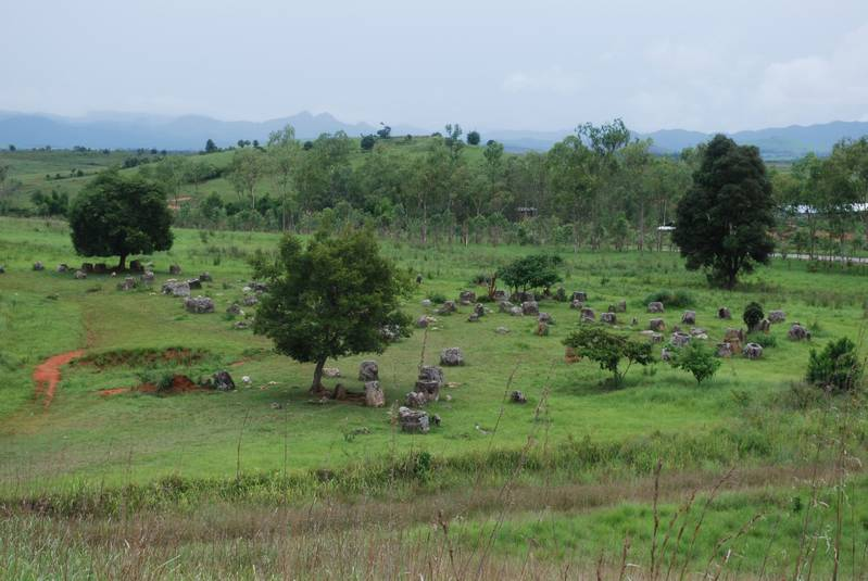 One of the sites with the famous Phonsava plain of jars...