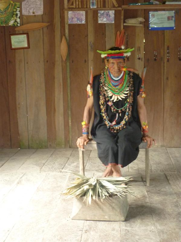 "The Shaman. Plant medicine guru. When he asked if there were any questions I asked ""How on earth do you blow your nose!"" He takes the feather out all the time was his response. Just for show this guy I tell you..."