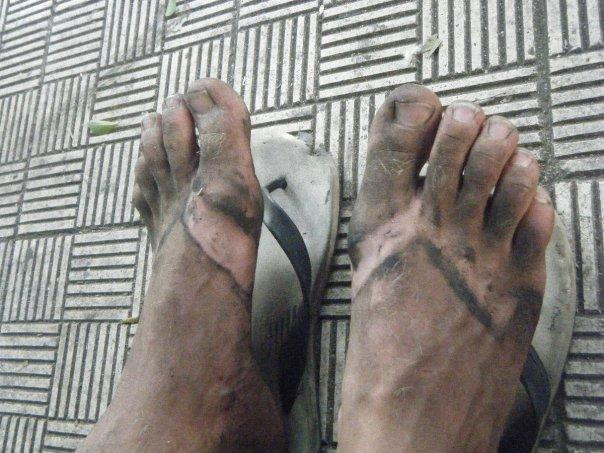 my dirty feet