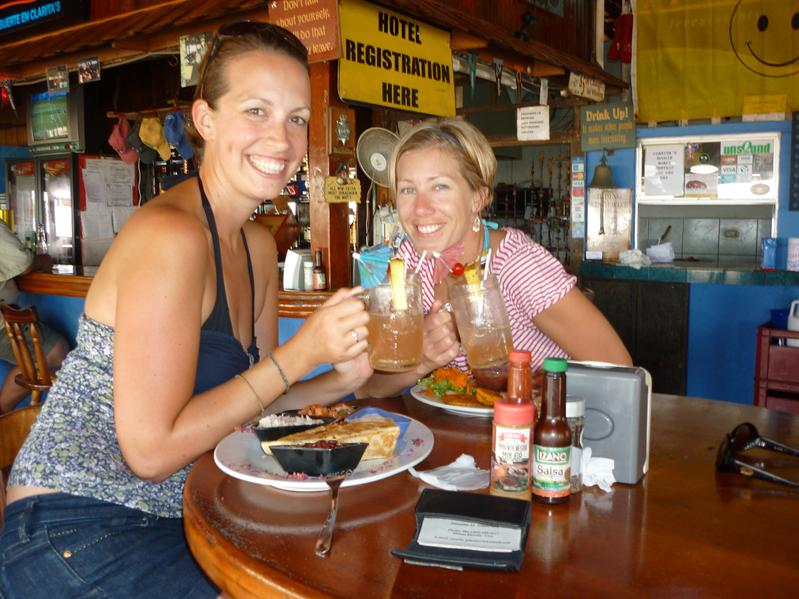 Our first boozy lunch of many!