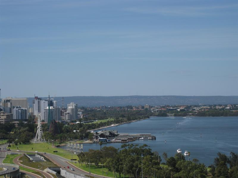 Perth skyline and Swan River