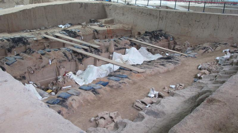 archaeologists are still working on the site