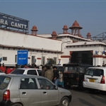 Outside Agra train station