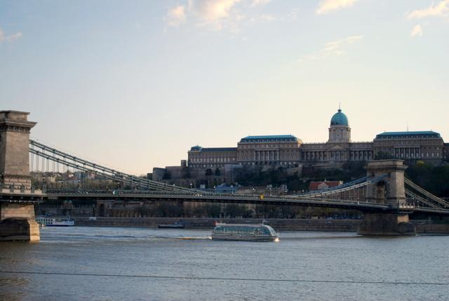 Nearby is the famous Chain Bridge linking Pest to Buda on the other side