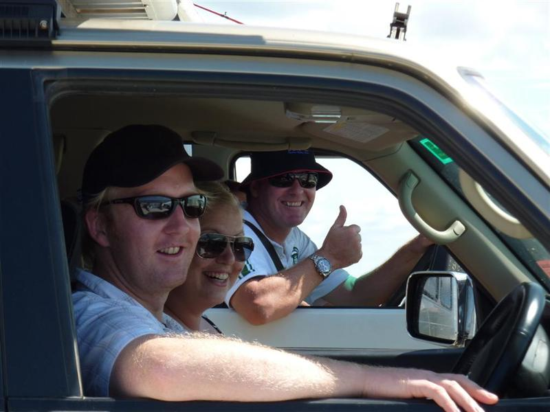 Steve, Elain and Bob ready to hit Fraser Island