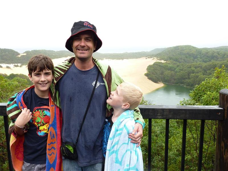 MItch, Ethan and Me at Lake Wobby
