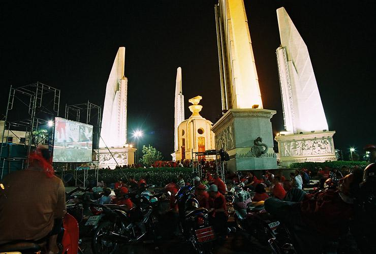 Red Shirt Mob at the Democracy Monument in Bangkok