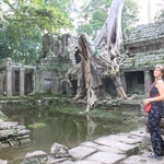 In Angkor with my Mother, oct11
