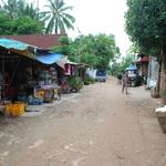 A road running along the Mekong river, into the villages on the outskirts of Vientianne...