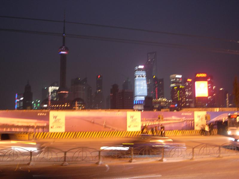 pudong skyline from the bund