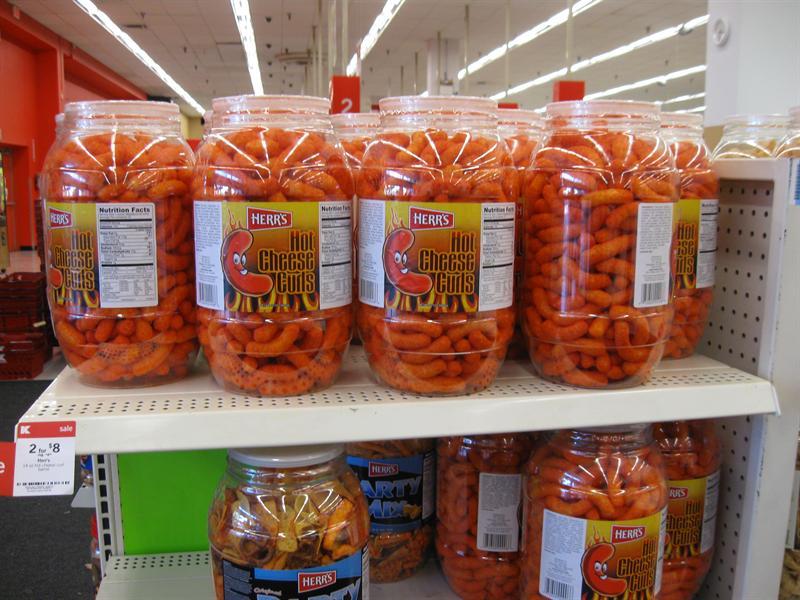 Jumbo size America, snacks...