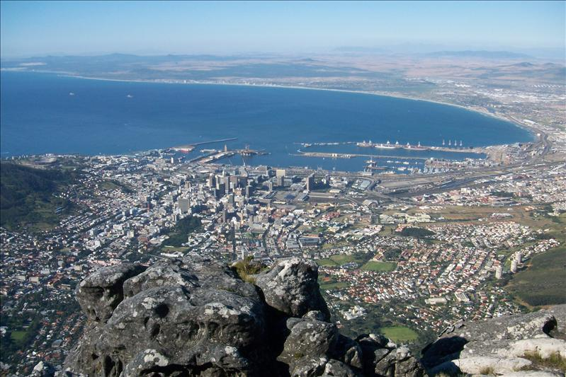 View od Cape Town from Table Mountain / Vue du Cap depuis Table Mountain