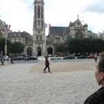 The church opposite Louvre.