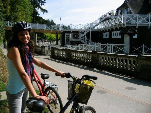 Biking around Stanley Park  Vancouver, BC