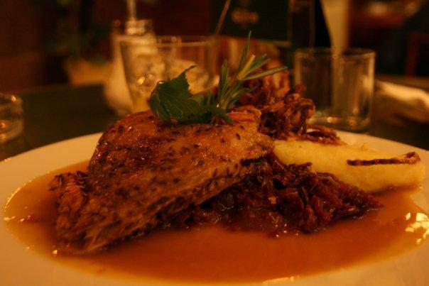 Easily the best dish of the entire Europe Trip. Sauteed duck leg with potato dumpling. Yum!