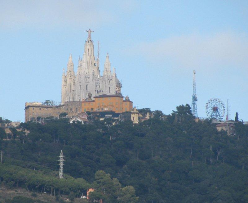 .. towards Mt. Tibidabo.