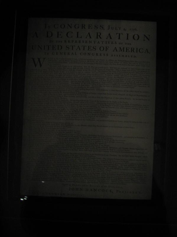 Een dagje in Philadelphia besteedt. De declaration of independance gezien..