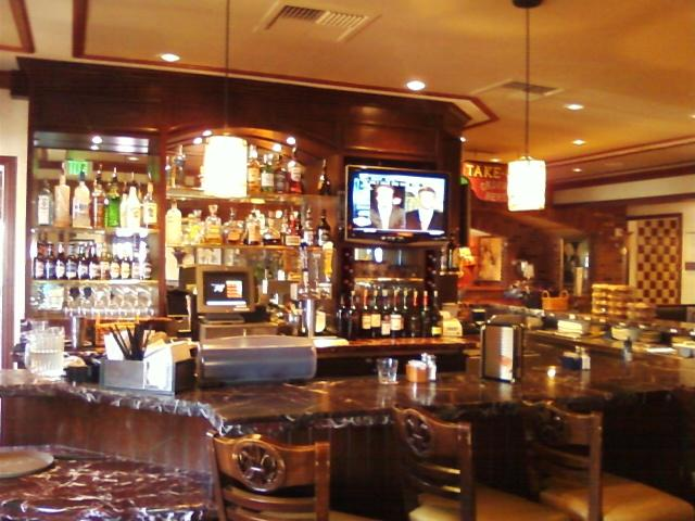 a closer view of the bar