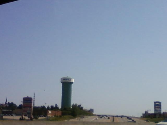 the Arnold water tower on I-55 southbound