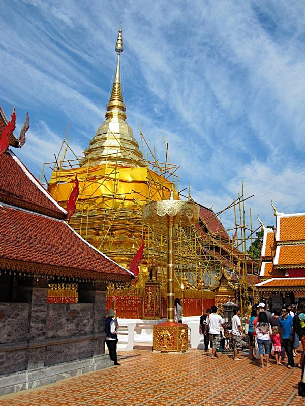 Doi Suthep in Chiang Mai on Chinese New Year's day