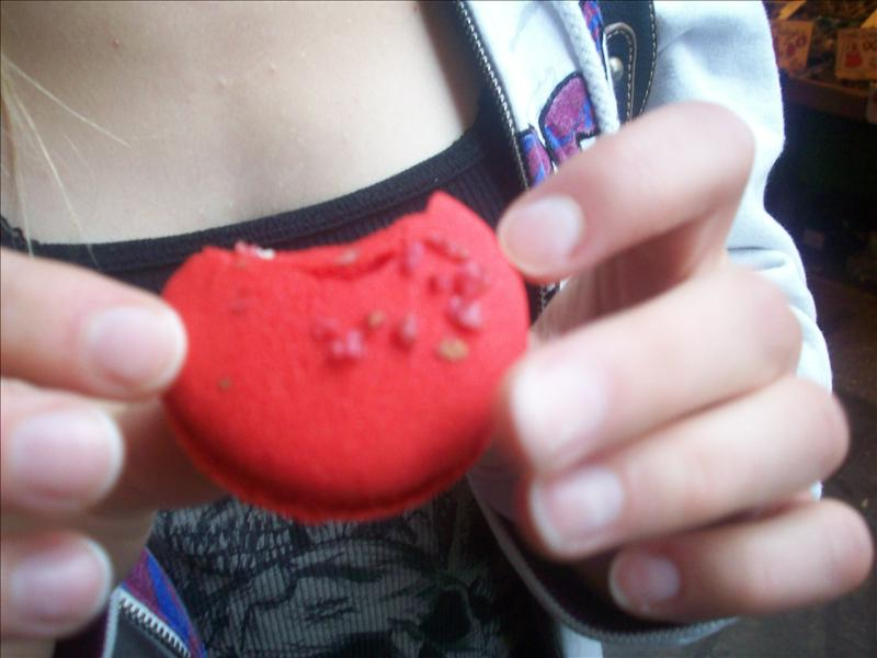 Jess had a Rose macaroon and I had a lychee rasberry!