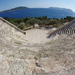 fish-eye view of Kaş Amphitheatre