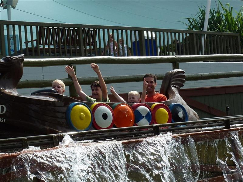 On the log ride at Sea World