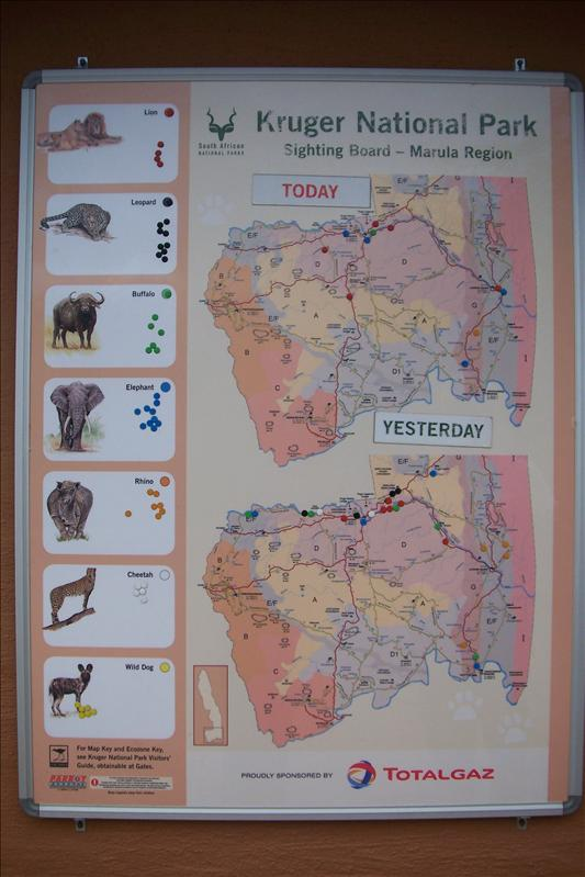 Map of the south Kruger NP