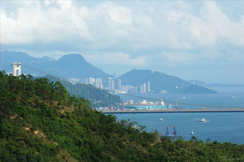可看見港島的西高山及摩星嶺