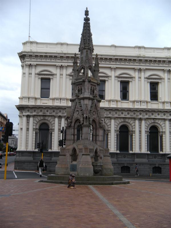 The minature Scott Monument in Dunedin