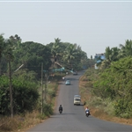 Road from Tivim to Calangute