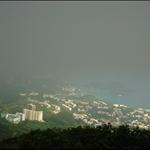 霧鎖壽臣山及海洋公園一帶