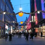 Christmas lights on Stroget..